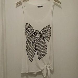 Lauren Moshi sz M limited edition bow tank top